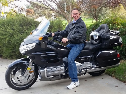 NEW BIKE - Gary Wegener recently traveled to the East coast to pick up his new Goldwing and ride it back home.