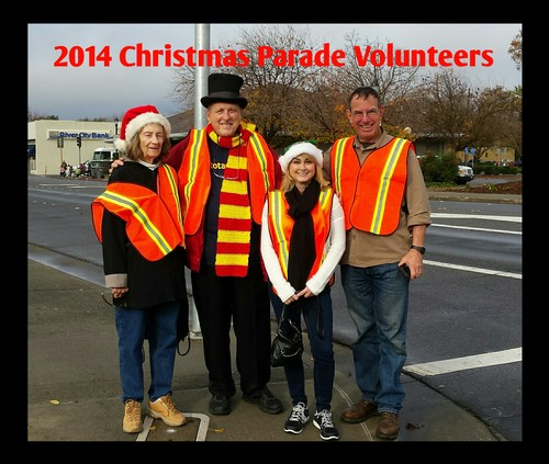Club volunteers at the December 6 Woodland Holiday Parade included Dona Mast, David Flory, Laurie Ruiz and Gary Wegener.