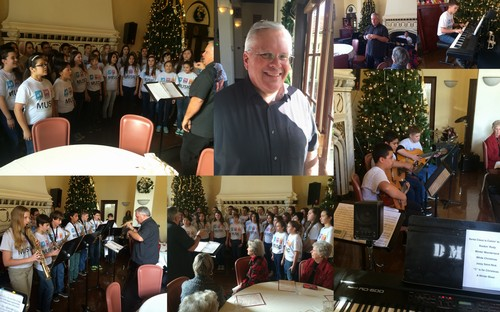 HOLIDAY MUSIC PROGRAM - Ken Holck, Music Teacher, brought his Douglass Middle School Guitar Club and Choir to perform.