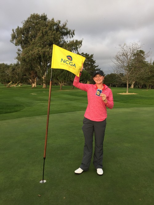COURTNEY ADVANCES - Courtney Vogel, Woodland Christian School junior and daughter of member Kurt Vogel, advanced to the Cal State Golf Championships.