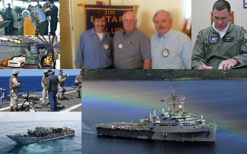 TIGER CRUISE USS CLEVELAND - Mike Chandler was our speaker at today's meeting giving us a program on his April 2010 'Tiger Cruise' about the USS Cleveland (LPD-7) from Pearl Harbor to San Diego