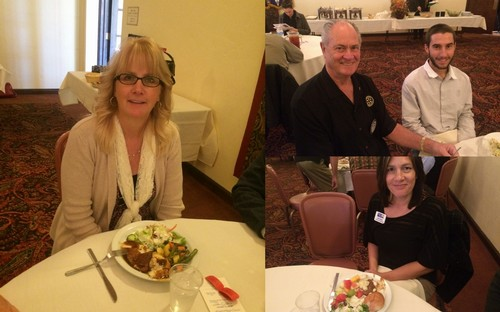 VISITING ROTARIANS & GUESTS - Vicky Faye from Sunrise Rotary was with us. Todd Whittle (Mahlon Whittle) and Lori Ross (Kris Kristensen) joined us as guests.