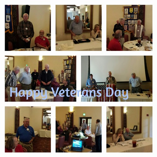 RECOGNITION - David Janes led the effort with a tribute to Veteran's Day.