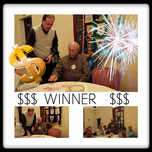RAFFLE WINNER!! - Chuck Maltese won the $487 jackpot in today's raffle. He donated all the proceeds to the Rotary Foundation! Way to go Chuck!
